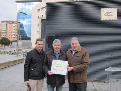 Pamplona dedica la plaza del Palacio de Justicia al juez Luis Elío Torres