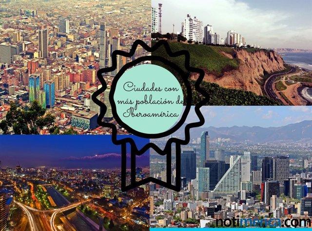 Ciudades con más población de Iberoamérica