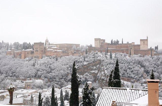 Nevada en Granada, nieve
