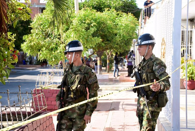 Policías en Barranquilla