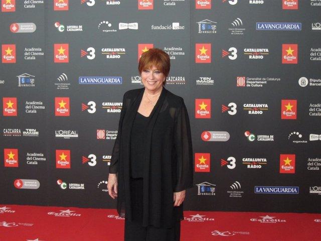 La actriz barcelonesa Mercedes Sampietro en los Premis Gaudí