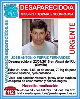 Desaparecido un varón en Alcalá del Río