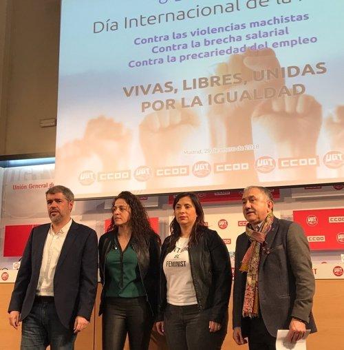 CCOO y UGT convocan paros laborales para el 8 de marzo, Día Internacional de la