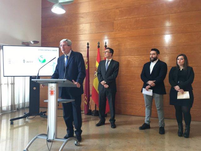 Presentación de actos con motivo del Día Mundial contra el Cáncer en Murcia
