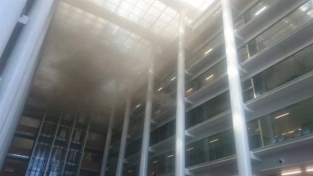 Imagen de archivo del incendio en la Ciudad de la Justicia