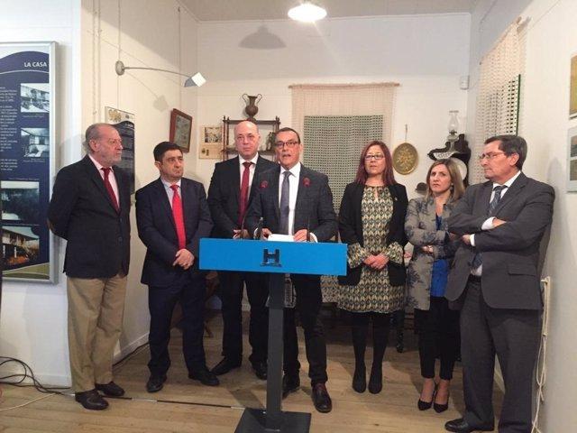 Reunión de presidentes de Diputaciones gobernadas por el PSOE.