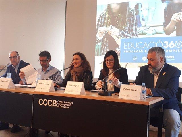 C.Barba, I.Palacín, M.Conesa, P.Gargallo y R.Homet, en Educació360