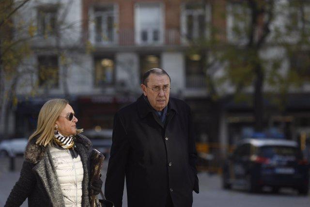 Mauricio Casals, presidente del diario La Razón, llega a la Audiencia Nacional