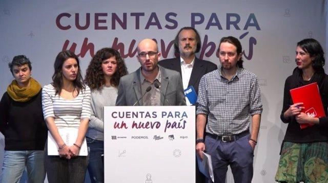Pablo IGlesias, en la presentación de los PGE alternativos de Unidos Podemos