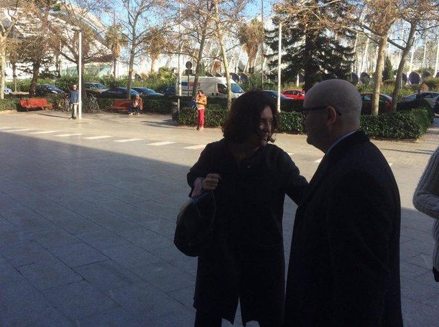 Beatriz Simón a su llegada al juzgado