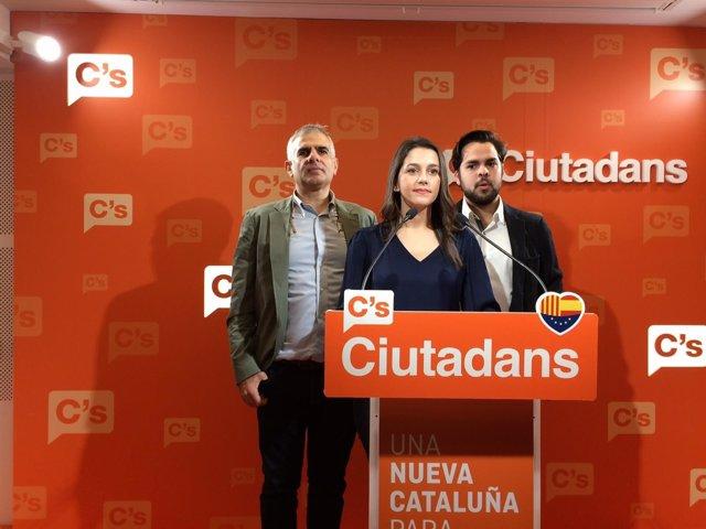 C.Carrizosa, I.Arrimadas y F.De Páramo (Archivo)