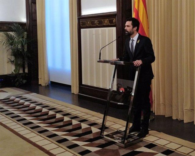 Roger Torrent, presidente del Parlament de Catalunya