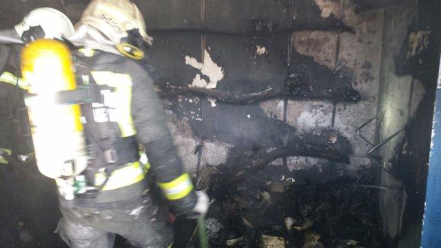 Incendio en una zapatería en Noja