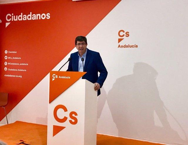 Juan Marín, hoy en rueda de prensa
