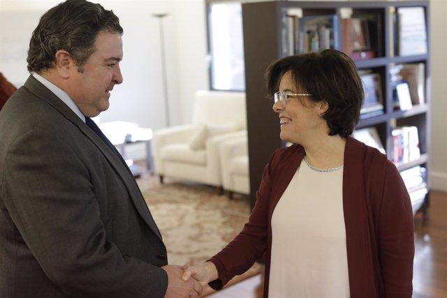 El embajador de EEUU, Duke Buchan III, con la vicepresidenta