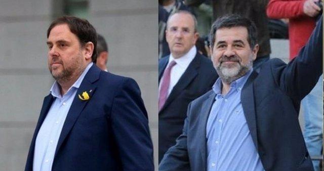 Junqueras, Jordi Sanchez y Joaquim Forn