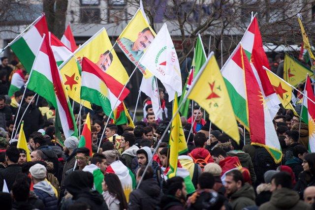 Manifestación prokurda en Alemania