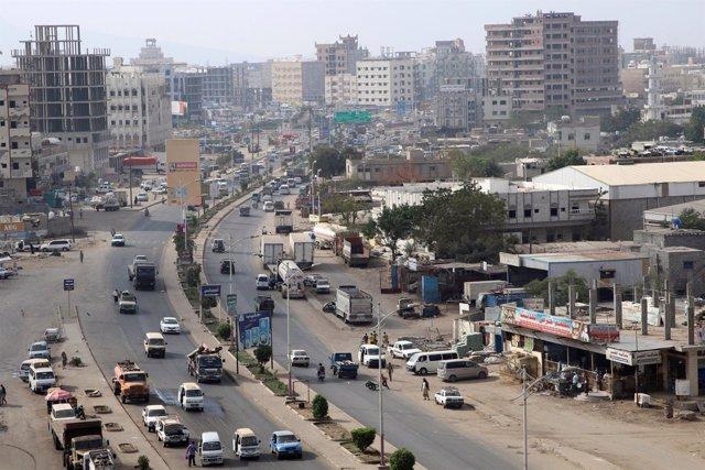 Vista de la ciudad de Adén