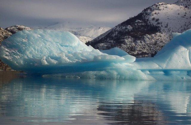 Glaciar en Chile en el Parque Nacional Torres del Paine