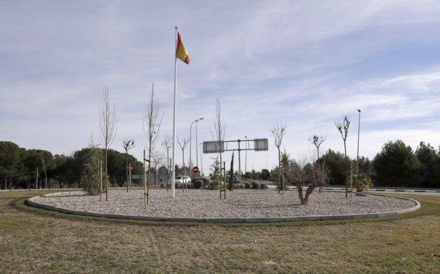 Rotonda de Montecarmelo sin el cañón nazi