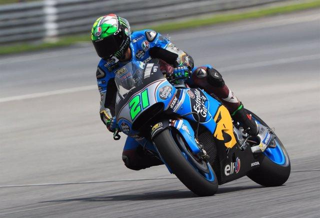 Franco Morbidelli rueda en Sepang