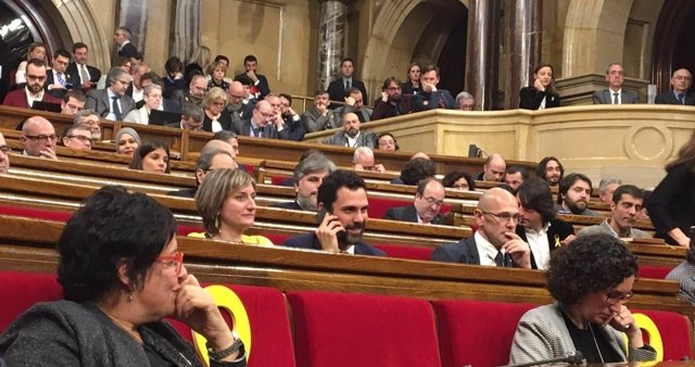 Roger Torrent al ser nombrado presidente del Parlament
