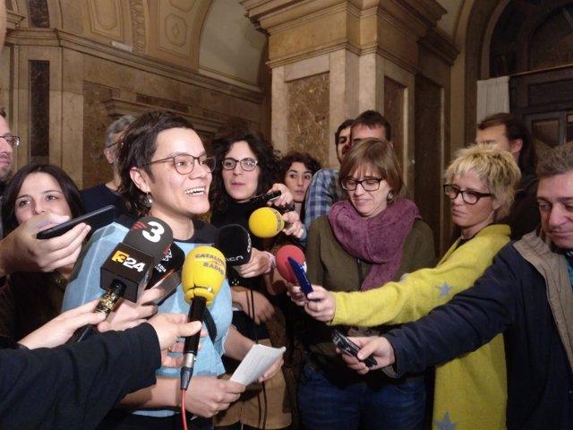La diputada de la CUP en el Parlament Natàlia Sànchez