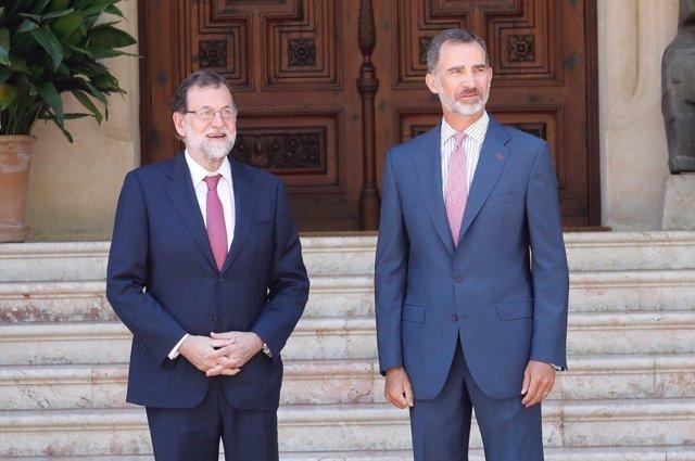 Rajoy y el Rey se reúnen en Marivent