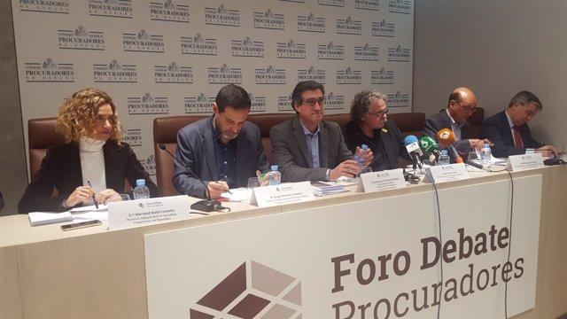 Joan Tardá (ERC) en un Foro de Debate de Procuradores