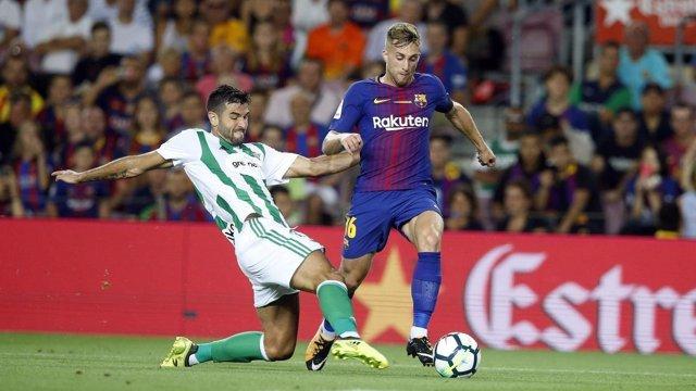 Gerard Deulofeu en el Barcelona - Betis