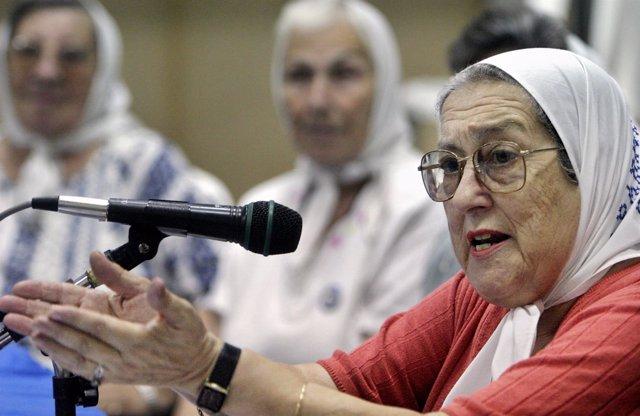La fundadora de Madres de la Plaza de Mayo, Hebe de Bonafini.