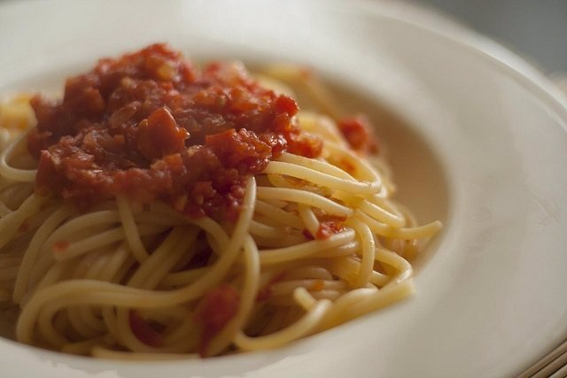 Pasta, comida, espaguetis.