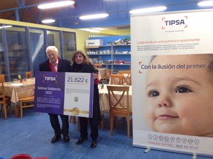 TIPSA destina 21.622 euros recaudados en su campaña de sobres solidarios de Navidad a la Fundación Mensajeros de la Paz