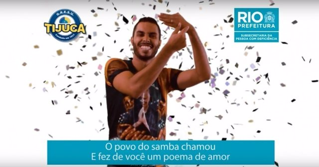 Instaente del vídeo de traducción de sambas