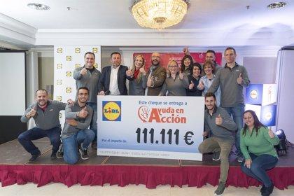 Lidl dona más de 220.000 euros a Ayuda en Acción y Bancos de Alimentos tras su campaña de Navidad