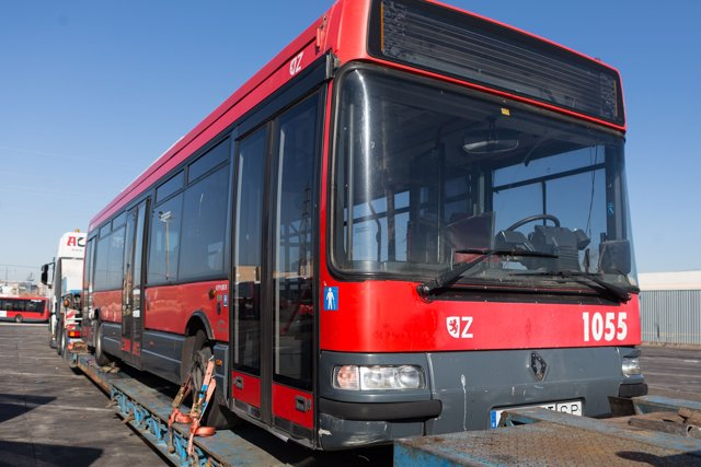 Uno de los autobuses que Zaragoza donará a la ciudad de La Habana (Cuba)