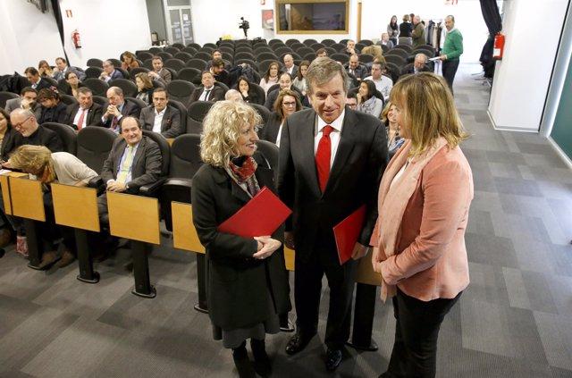 Presentación del convenio de Sodercan con Banco Santander