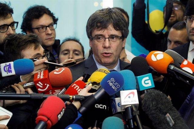 Declaraciones de Puigdemont desde Bruselas tras reunirse con Torrent