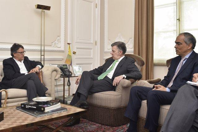 Juan Manuel Santos se reúne con Gustavo Bell y Rodrigo Rivera