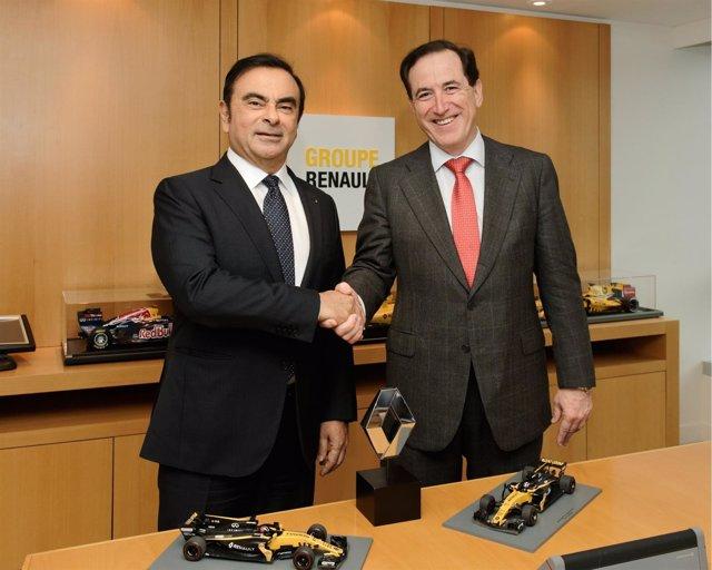 Carlos Ghosn y Antonio Huertas oficializan el acuerdo