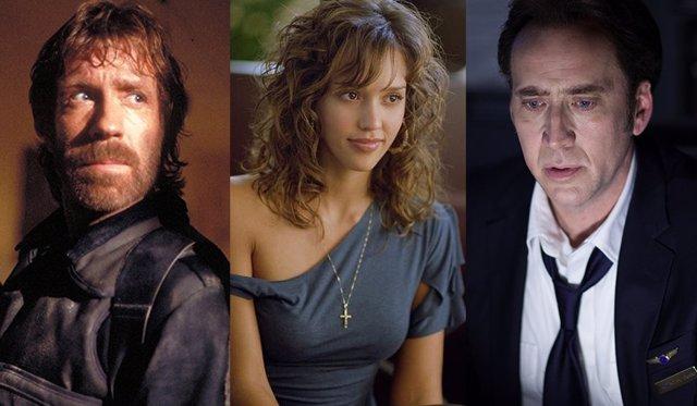 Chuck Norris, Jessica Alba y Nicolas Cage