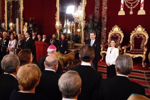 Los Reyes, en la recepción al Cuerpo Diplomático acreditado en España