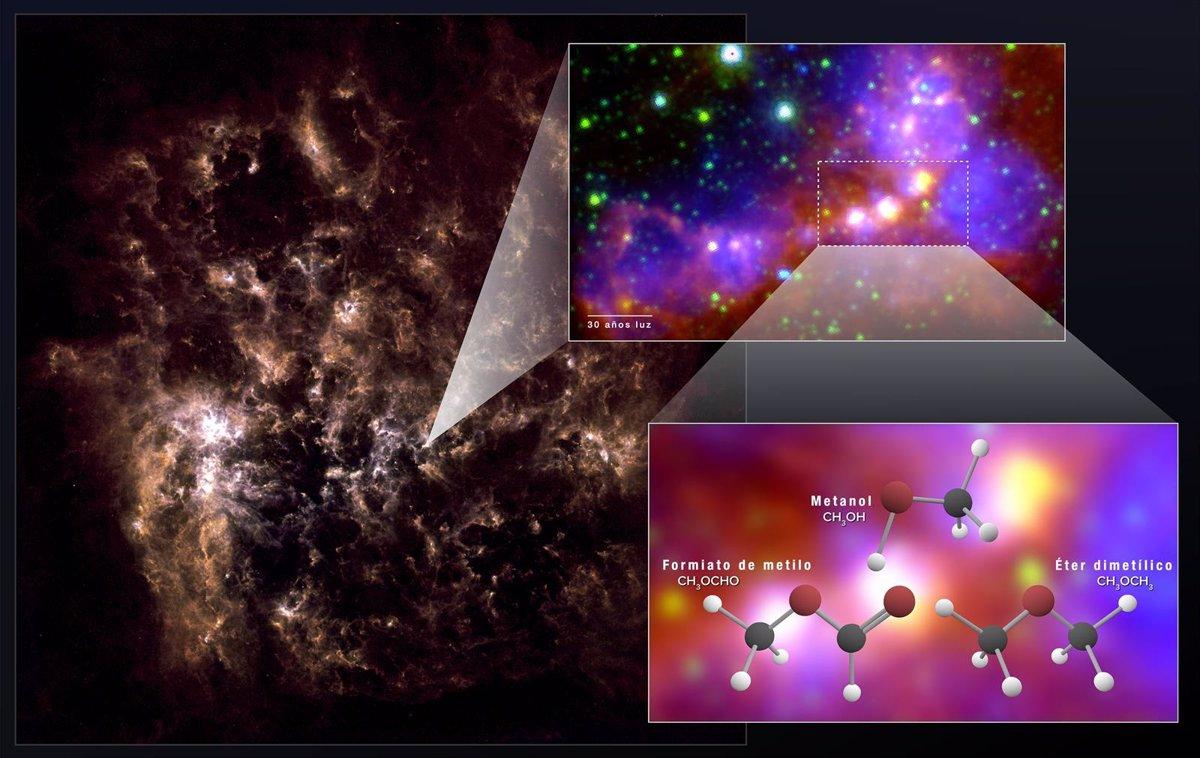 Moléculas orgánicas sorprendentemente complejas en una galaxia vecina
