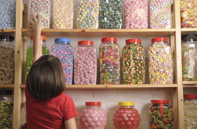 Chuches, Chucherías, gominolas, dulces y niños