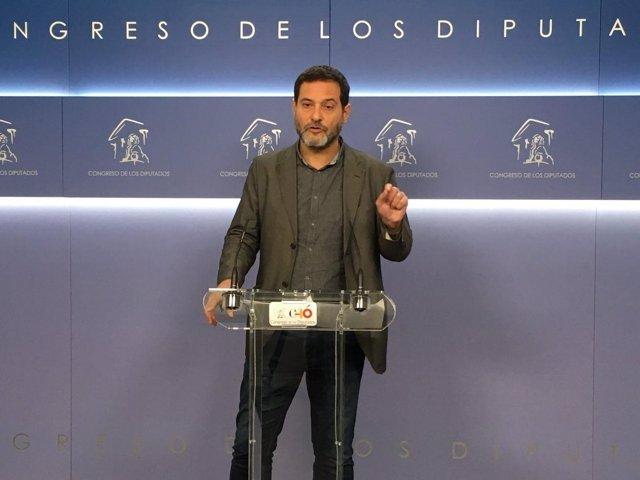 El diputado de En Comú Josep Vendrell en el Congreso