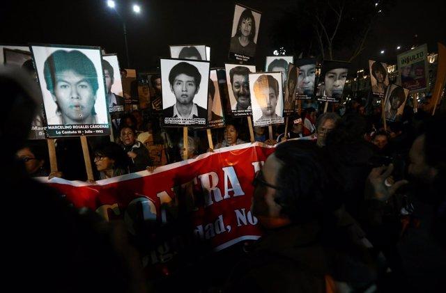 Protestas contra el indulto a Alberto Fujimori