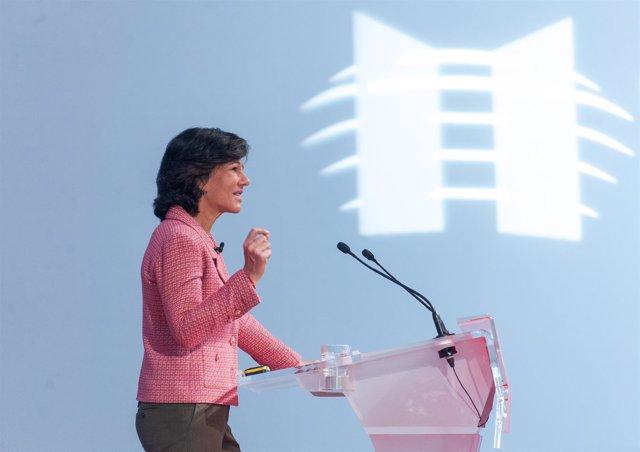 Ana Botín (Santander) durante la X Conferencia Internacional de Banca