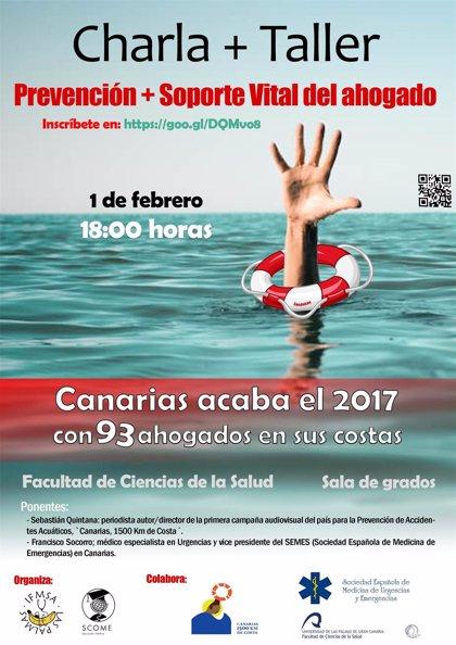 Unos 50 estudiantes de la Universidad de Las Palmas de Gran Canaria aprenden sobre prevención y soporte vital de ahogado