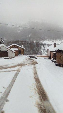 Temporal de nieve y frio en Somiedo