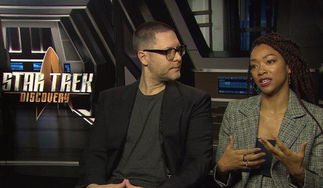 Aaron Harberts y Sonequa Martin-Green, Star Trek: Discovery